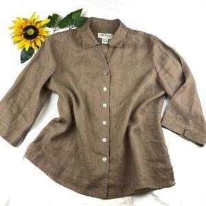 Orvis 100% Linen Shirt Jacket Lagenlook